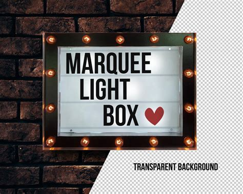 Marquee Light Box by Marquee Light Box Mockup Psd Template Age Themes