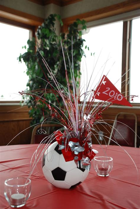 soccer banquet centerpieces soccer centerpiece great d 233 cor for any table