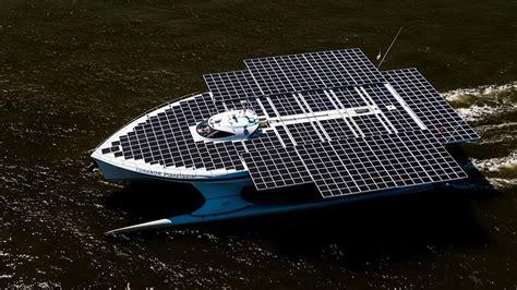 solar boat lights solar boat shines light on sun s power cbs news