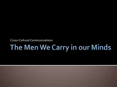 the we carry in our minds thesis the we carry in our minds