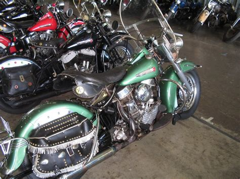 original paint antique and vintage harley davidsons 1948 1957 green harley davidson motorcycles