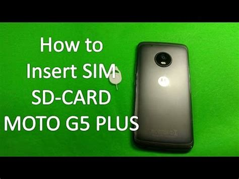 how to make sd card work again how to insert sim card in moto g5 plus sd card