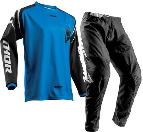 blue motocross gear 2018 thor sector zones kids youth motocross gear black