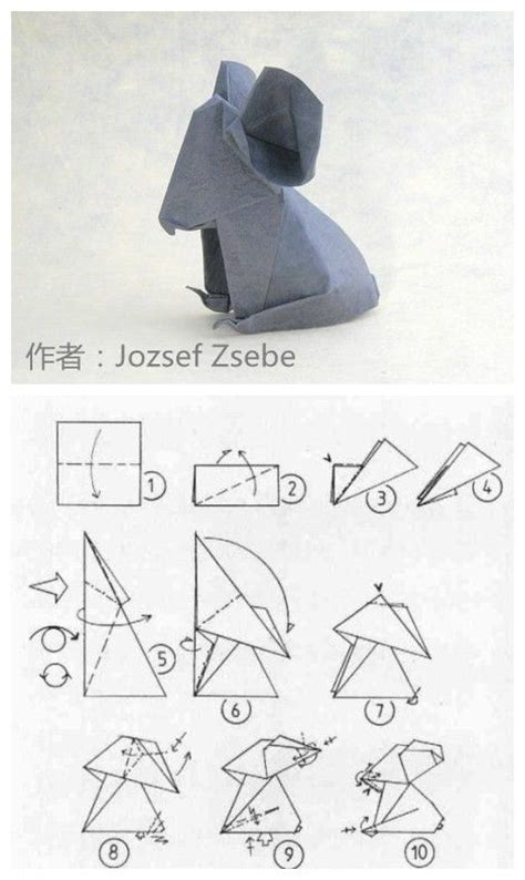 Origami Elephant Tutorial - 25 best ideas about origami koala on origami