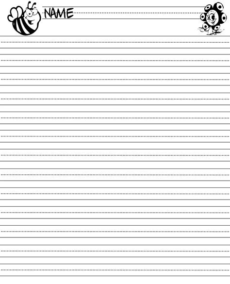 printable paper for 3rd grade lined writing paper for third grade 7 best images of