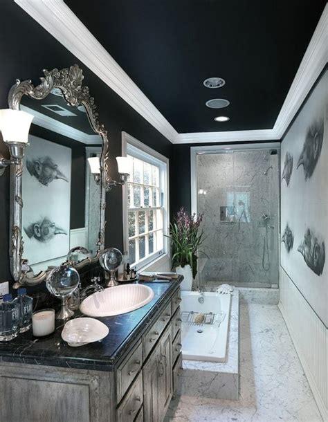 salle de bain noire  exemples captivants