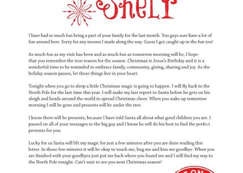 printable elf on a shelf goodbye letter elf on the shelf archives balancing home with megan bray
