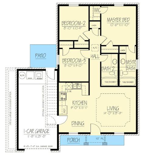 brick ranch house plan 68011hr 1st floor master suite compact brick ranch home 61028ks 1st floor master