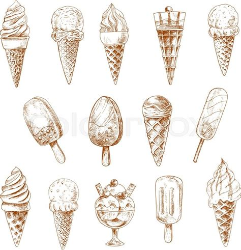 zbrush sketchbook ice cream sundae by evanstanley on sketches of ice cream cones and fruity popsicles
