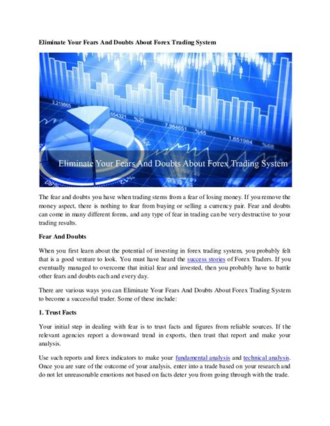 Ppt eliminate your fears and doubts about forex trading system powerpoint presentation id