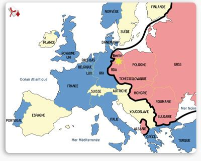 map of europe 1945 iron curtain la guerre froide 1947 1962 article francetv 201 ducation