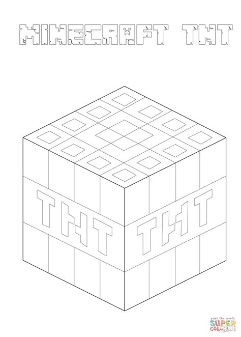 Minecraft Coloring Pages Tnt | coloriage tnt de minecraft coloriages 224 imprimer gratuits
