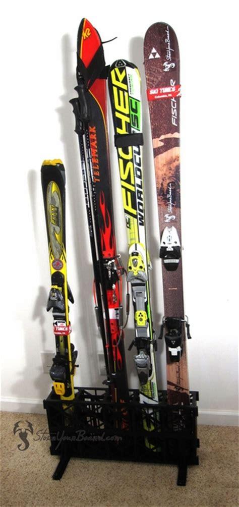 Freestanding Ski And Snowboard Storage Racks by Ski Storage Rack Free Standing 5 Pairs