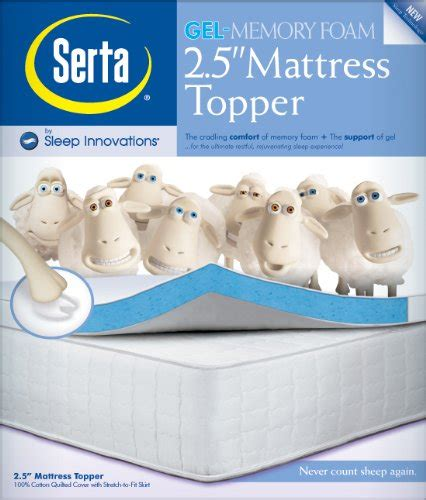Where Can I Buy Mattress Toppers by Serta 2 5 Inch Gel Memory Foam Mattress Topper O