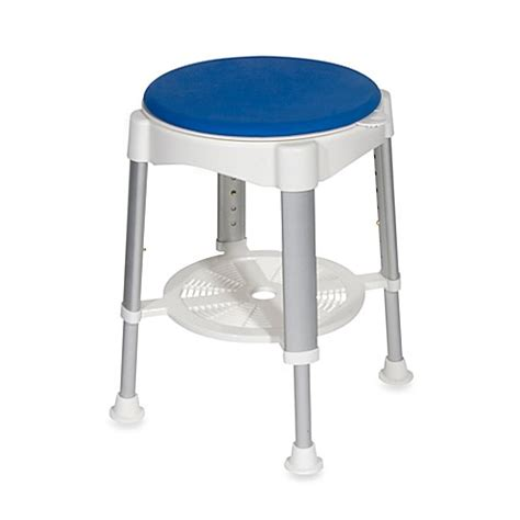 shower stool for drive bath shower stool with blue padded rotating