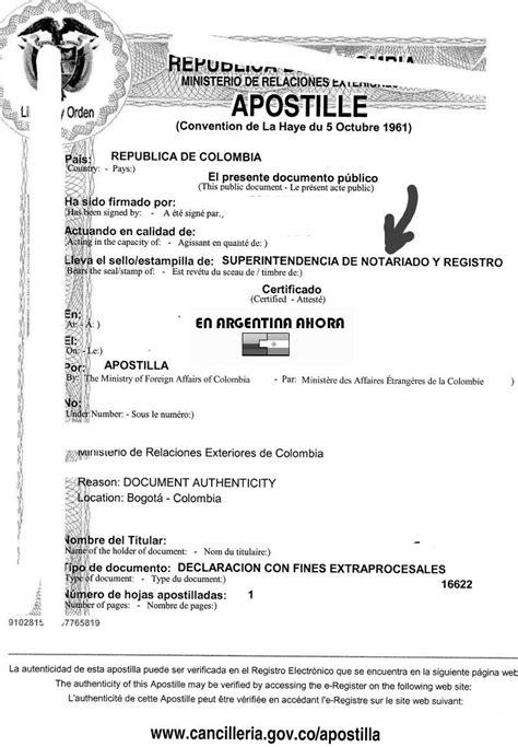 como realizar el tramite de apostilla de un acta de apostilla de la haya en colombia viajar a argentina hoy
