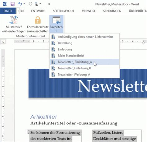 Musterbrief In Word Musterbrief Assistent F 252 R Word Shareware De