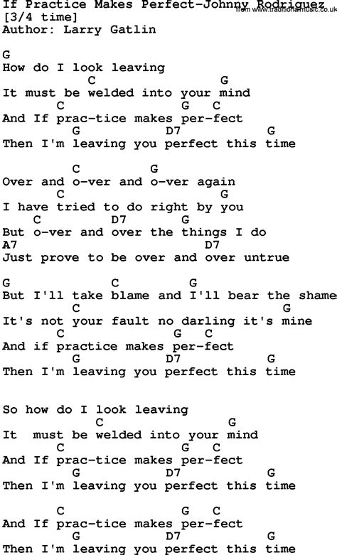 lyrics and country if practice makes johnny rodriguez