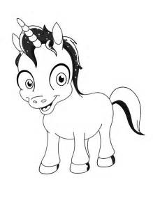 cartoon unicorn coloring pages cute kids coloring