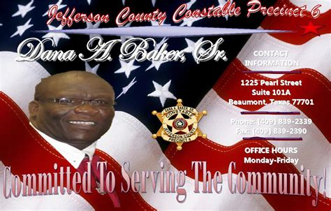 Civil Restraining Order Background Check Jefferson County Constable Precinct 6