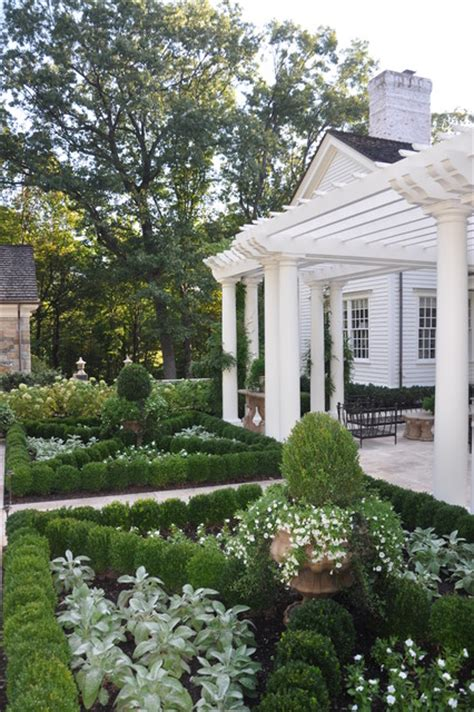 a classic country white garden traditional landscape new york by deborah cerbone