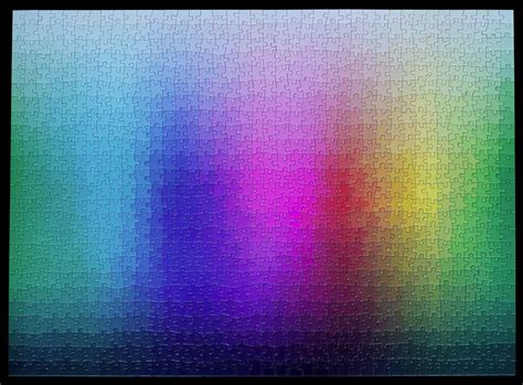 Puzzle With Every Color | a 1 000 piece cmyk color gamut jigsaw puzzle by clemens habicht colossal