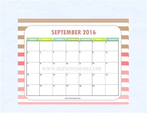 printable mom planner 2016 a sweet surprise free calendar to match the shining mom