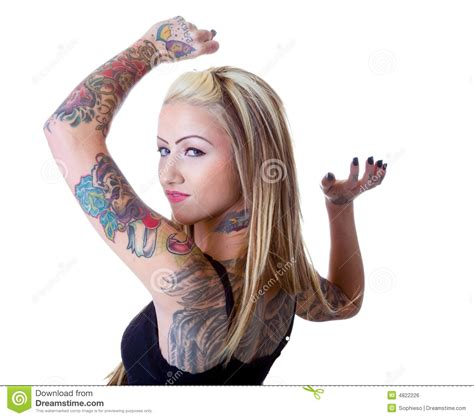 tattoo girl photos wings of a tattoo girl royalty free stock image image