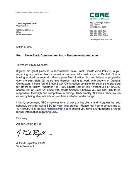 letter reccommendation template mysafetglovescom