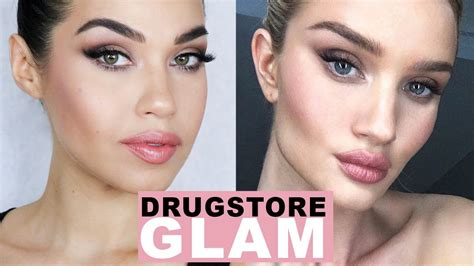 natural makeup tutorial drugstore all drugstore natural glam rosie huntington inspired