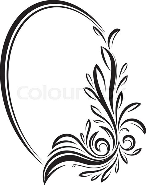 elegant oval floral vector frame for your design or text