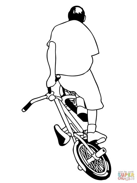 street bmx bike coloring page supercoloring com