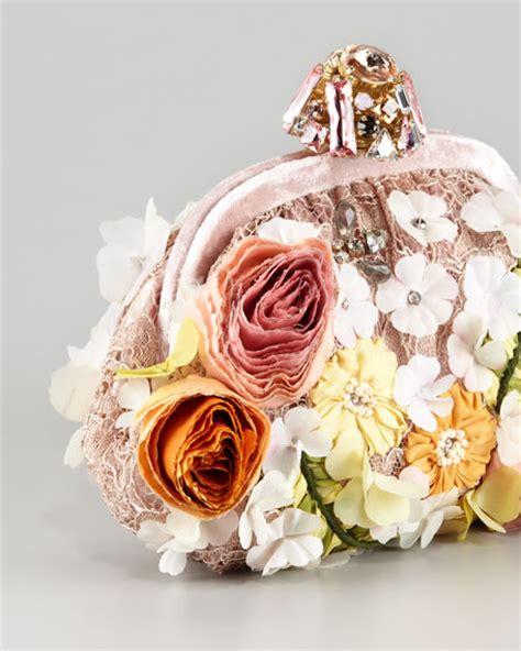 Pouch Chantilly Floral dolce gabbana miss dea lace floral pouchette clutch bag