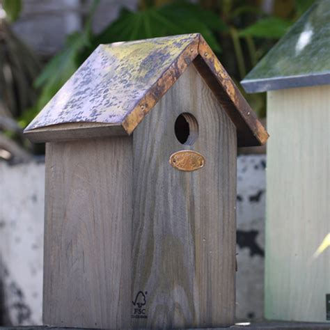 copper roof bird house