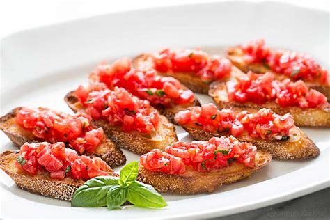 bruschetta with tomato and basil recipe simplyrecipes com
