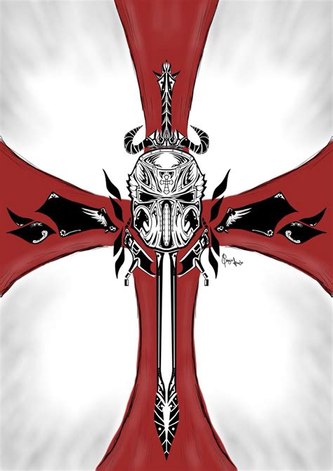 knights templar cross tattoos designs cool crusader cross crusaders
