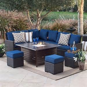 outdoor furniture set patio pit sofa ottomans table