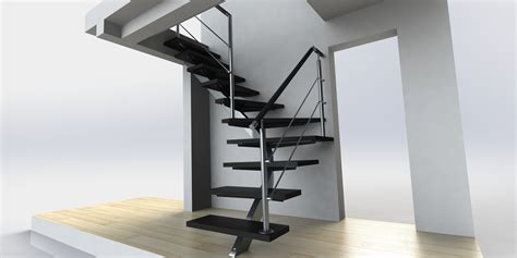 Banister House Prolific Simple Black Iron Modern Staircase With Rail