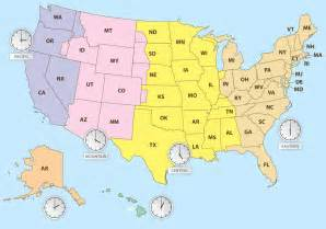 usa time zones hawaii time zones of us map free vector stock