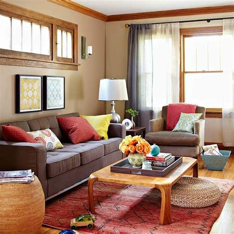 color scheme for living rooms add color to your living room wood trim red color