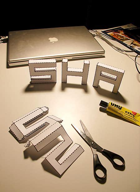 3d paper letters template punched out diy 3d font