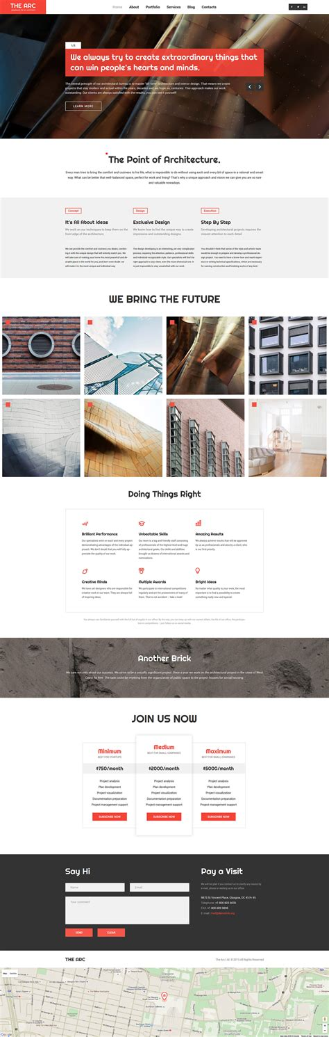bootstrap themes architecture the arc architecture architecture responsive bootstrap