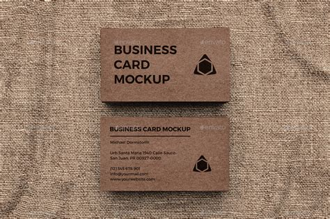 Craft Paper Business Cards - kraft paper business card mockup by aykutfiliz graphicriver