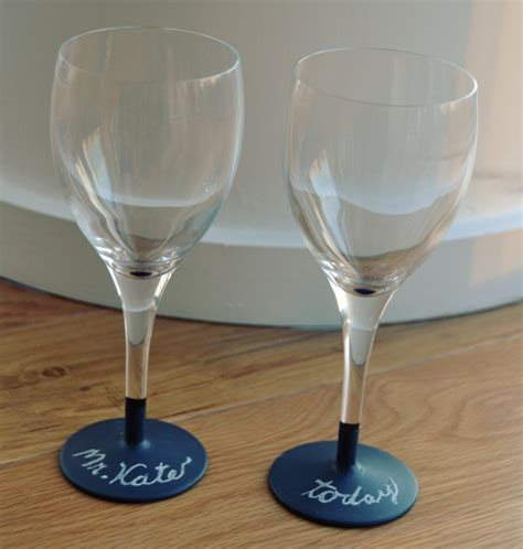 painting chalkboard paint on wine glasses mr kate diys featured on the today show