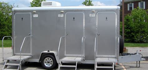 bathroom trailers installation of portable restrooms in outdoor events is an