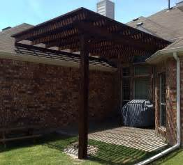 single post backyard arbor pergola in frisco hundt