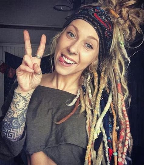 Hochzeitsfrisur Dreadlocks by Hippy Chic With Dreads Dreadlocks