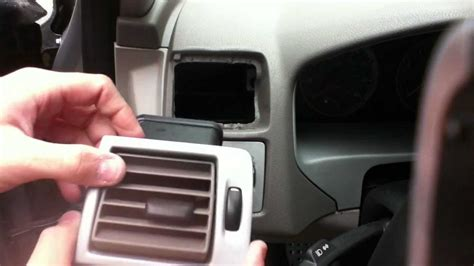 volvo  side air vent removal youtube
