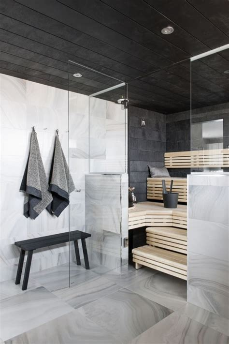 A Bit Of Luxury 35 Stylish Steam Rooms For Homes Digsdigs Home Steam Room Design