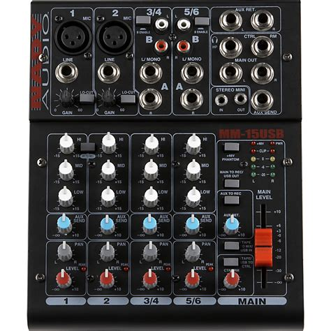 Mixer Audio Mini mm 15usb 15 channel mini mixer with usb interface nady systems inc